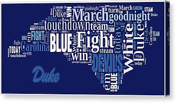 Fight Fight Blue Devils Canvas Print