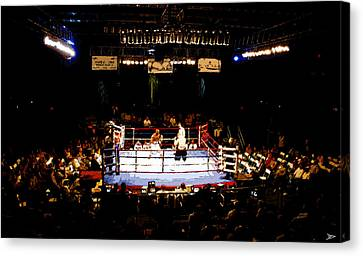 Fight Night Canvas Print by David Lee Thompson