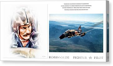 Robin Olds Fighter Pilot Canvas Print by Peter Chilelli