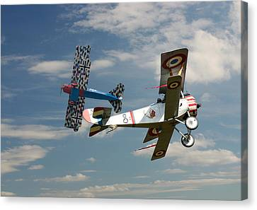 Fighting Colours 2 - Fokker D. Vll - Nieuport Canvas Print by Pat Speirs