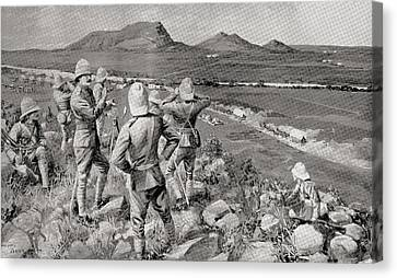 Fighting Mac And The Highland Brigade Canvas Print by Vintage Design Pics