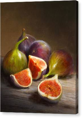 Still Lives Canvas Print - Figs by Robert Papp