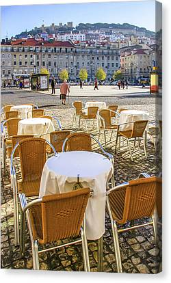 St George Day Canvas Print - Figueira Square Lisbon by Carlos Caetano