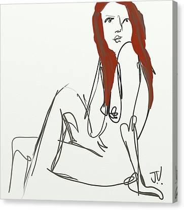 Canvas Print featuring the digital art Figure - 14nov2017 by Jim Vance