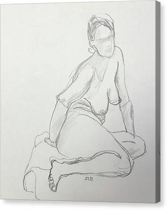 Figure Drawing Class Canvas Print by Janet Butler