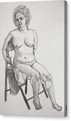Figure Drawing Canvas Print by Jean Haynes