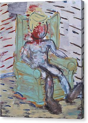 Figure In Armchair Canvas Print