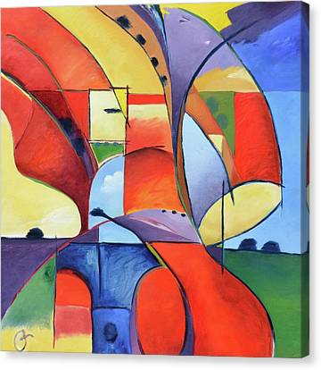 Figure Landscape Abstract Canvas Print by Gary Coleman