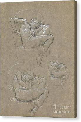 Figure Studies For Flaming June Canvas Print