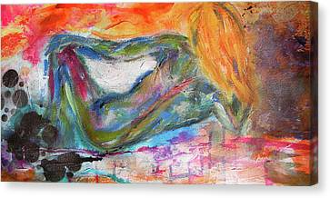 Canvas Print featuring the mixed media Figure Study 2 by Lisa McKinney