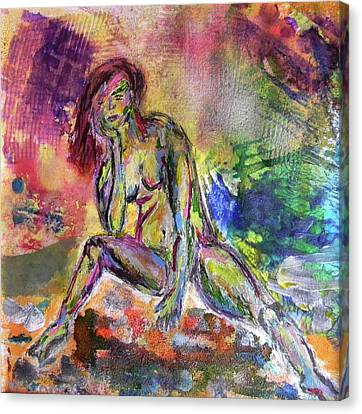 Canvas Print featuring the mixed media Figure Study 3 by Lisa McKinney