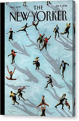 Canvas Nancy Kerrigan and Kristi Yamaguchi Art Print Poster