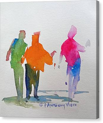 Figures In Motion  Canvas Print by P Anthony Visco
