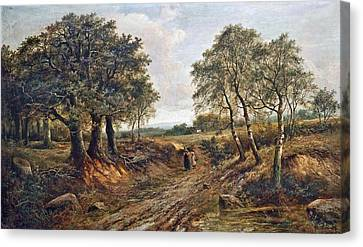 Figures On A Track Canvas Print