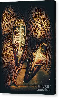 Fijian Tiki Tribal Masks Canvas Print by Jorgo Photography - Wall Art Gallery