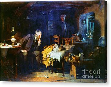 Medicine Canvas Print - Fildes The Doctor 1891 by Granger
