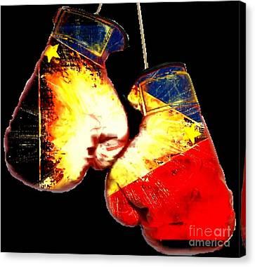 Filipino Boxer Canvas Print by Teo Alfonso
