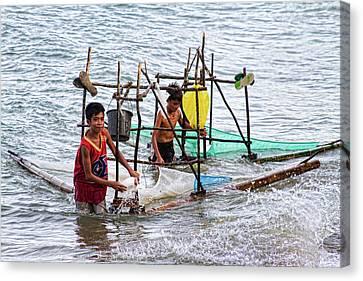 Filipino Fishing Canvas Print by James BO  Insogna