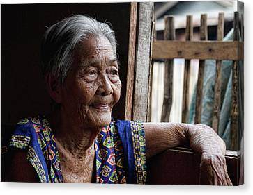 Filipina Canvas Print - Filipino Lola - Image Number Fourteen  by James BO  Insogna