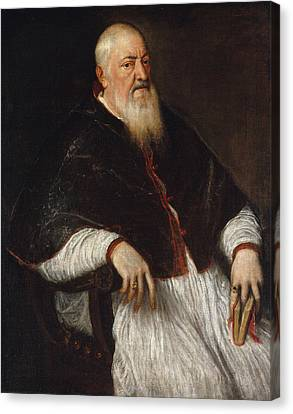Filippo Archinto, Archbishop Of Milan Canvas Print by Titian