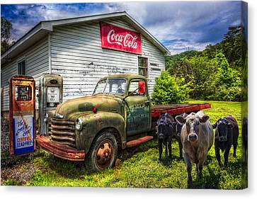 Fill 'er Up? Canvas Print by Debra and Dave Vanderlaan