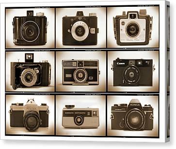 Holga Camera Canvas Print - Film Camera Proofs 1 by Mike McGlothlen