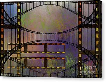 Canvas Print featuring the mixed media Film Is Dead by Jim  Hatch