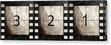 Film Leader Countdown Canvas Print by Mindy Sommers