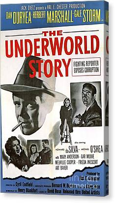 Film Noir Poster   The Underworld Story Canvas Print by R Muirhead Art