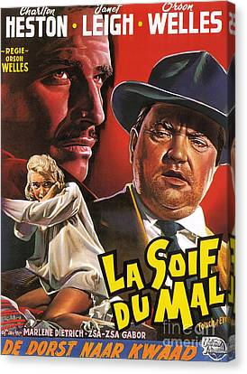 Film Noir Poster  Touch Of Evil Canvas Print by R Muirhead Art