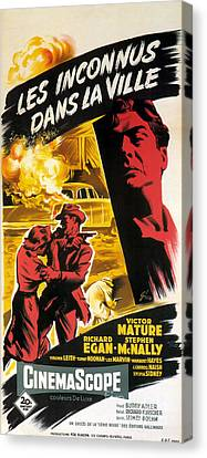 Film Noir Poster   Violent Saturday Canvas Print by R Muirhead Art