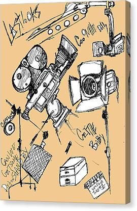 Film Set Canvas Print by Michael De Alba