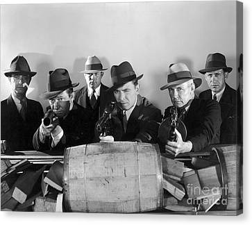 Gunman Canvas Print - Film Still: Gangsters by Granger