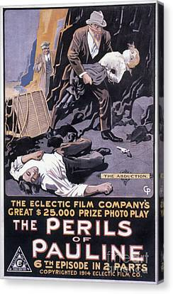 Film: The Perils Of Pauline Canvas Print by Granger
