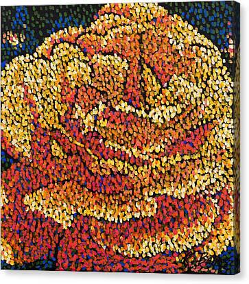 Filoli Rose 2 Canvas Print by Rebecca Bangs