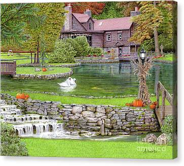 Fin N Feather At Seven Springs Canvas Print by Albert Puskaric