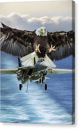 Final Approach Of Freedom Canvas Print by Peter Chilelli