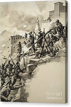 Final Assault On Tibet Canvas Print by Pat Nicolle