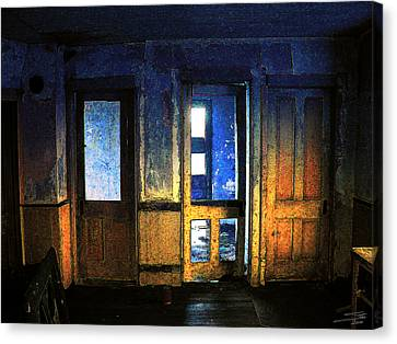 Canvas Print featuring the digital art Final Days - Choices by Stuart Turnbull