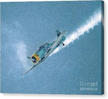 Final Dive World War Two Airplane  Canvas Print by Randy Steele
