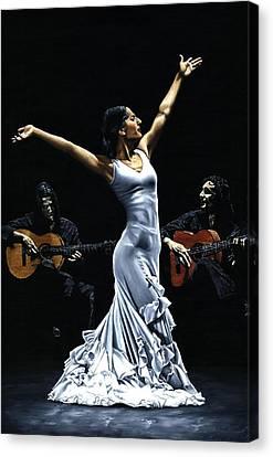 Finale Del Funcionamiento Del Flamenco Canvas Print