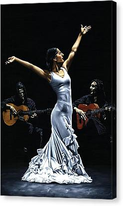 Finale Del Funcionamiento Del Flamenco Canvas Print by Richard Young
