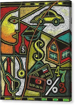 Debt Canvas Print - Finance And Medical Career by Leon Zernitsky