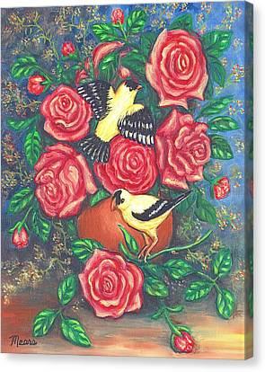 Finch Fancy Canvas Print by Linda Mears