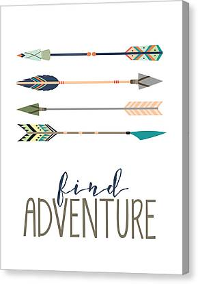 Find Adventure Canvas Print by Jaime Friedman