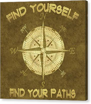 Canvas Print featuring the painting Find Yourself Find Your Paths by Georgeta Blanaru