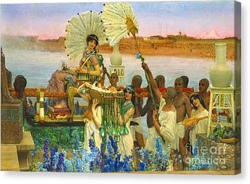 Ostrich Fan Canvas Print - Finding Baby Moses 1904 by Padre Art