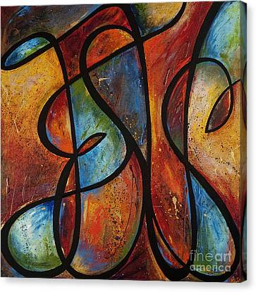 Canvas Print featuring the painting Finding Love by Shevon Johnson