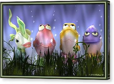 Finding Nemo Figurine Characters Canvas Print by Brian Wallace