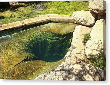 Pool In Cave Canvas Print - Fine Art America Pic 119 Jacobs Well by Darrell Taylor